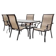 buy cheap outdoor patio home bromley tan metal sling 5 pc