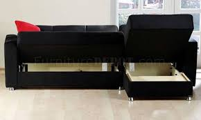 Black Microfiber Sectional Sofa Rainbow Storage Sectional Sofa In Black By Sunset