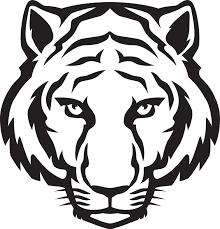 tiger logo design template files line art pinterest free