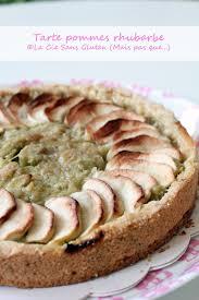cuisine sans lait tarte pommes rhubarbe sans gluten sans lait la compagnie sans