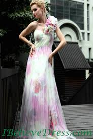 tulle for sale tulle one shoulder floral print evening wedding gowns white