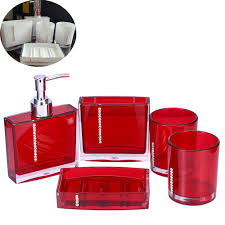 Acrylic Bathroom Accessories Red And White Bathroom Accessories
