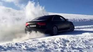 lexus ls600h vs audi a8 audi a8 slow mo on snow quattro rules youtube
