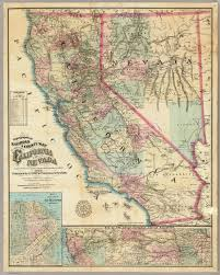 San Francisco Ca Map by Topographical Railroad U0026 County Map Of The States Of California