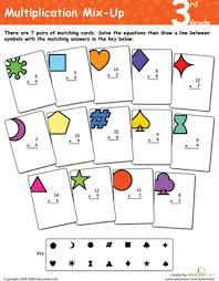 multiplication mix up 3rd grade worksheet education com