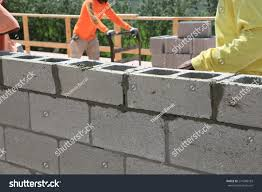 building cement block wall house stock photo 274589183 shutterstock