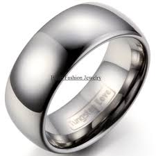 about tungsten rings images High quality 9mm silver comfort fit classic dome men ring tungsten jpg