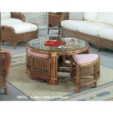 industrial patio furniture coffee table coffee table with stools brown wicker industrial