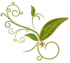 green deco flower ornament png clipart színes brushok