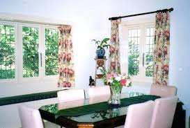 Window Treatment For Dining Room Dining Room Winsome Red Dining Room Curtains Images Dining Space
