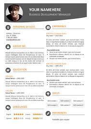 Visual Resume Templates Free Free Contemporary Resume Templates Le Marais Free Modern Resume