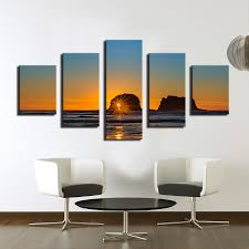 2017 new arrival limited paintings fallout cuadros 5pcs home decor