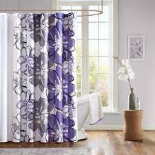 Purple Grey Curtains Overstock Lush Decor Purple Grey Shower Curtain This