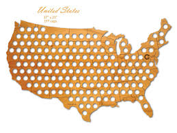 Beer Map Usa by Usa Beer Cap Map For Your Beer Cap Collection Gwyl Io