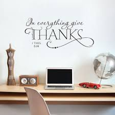 i thes in 5 18 bible thanksgiving quote art vinyl wall sticker