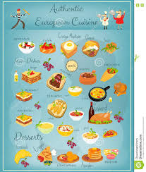 european cuisine european cuisine menu stock vector illustration of pancakes 74389602