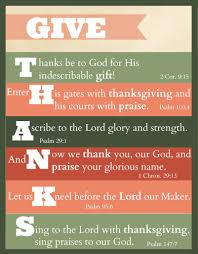 Bible Verses Of Thanksgiving Free Printable