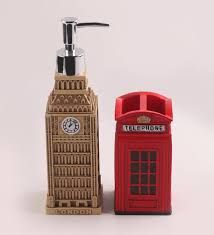 buy shresmo red and beige polyresin bathroom accessories set of