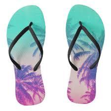 palm tree flip flops zazzle