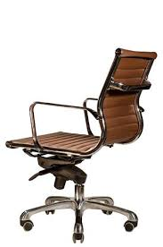robin lowback office chair brown leather from wobi office