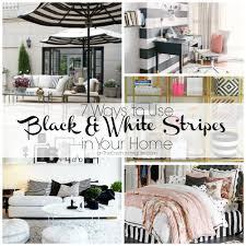 black and white stripes in home decor jpg