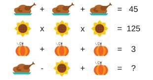 thanksgiving maths challenge 1