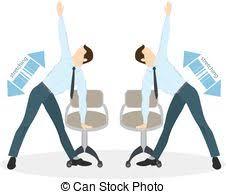 exercice au bureau exercices bureau sport épaule clipart