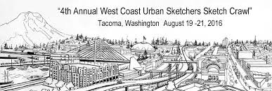 annual west coast urban sketchers sketch crawl tacoma