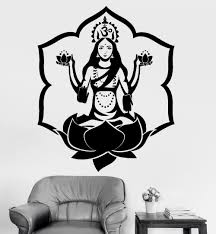Namaste Home Decor by Buddha Dance Indian Hinduism Wall Sticker Home Decor Wall Decal