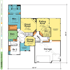 Home Design Basics by One Story House Plans With Open Floor Plans Design Basics Design