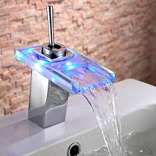 Waterfall Faucet Bathroom Fun Led Lighted Bathroom Sink Waterfall Faucet Grayson Bath