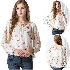 shirts and blouses 2018 retro chiffon shirts tops sleeve shirt