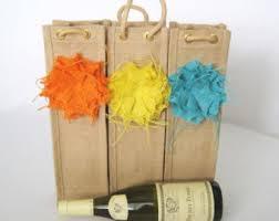gift packaging for wine bottles burlap bottle bag etsy