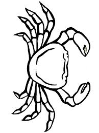 Crab Coloring Animals Town Animals Color Sheet Crab Free Crab Coloring Page
