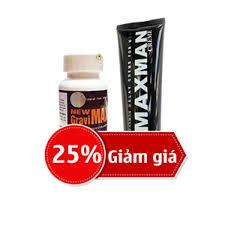 giảm ngay 25 khi mua combo new gravimax và gel maxman usa new 2018