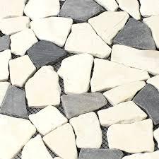 natural stone marble mosaic tiles biancone java tm33442