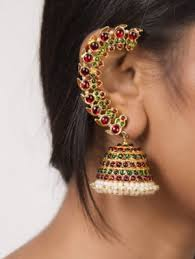 ear cuff online ear cuff jhumkas earrings ear cuffs with jhumkas online shopping