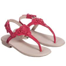 versace girls dark pink patent leather sandals childrensalon