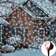 eambrite multi led snowfall projector lights