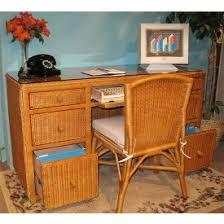 Rattan Computer Desk Wicker Desks