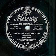 right in your own backyard patti page the right kind of love back in your own backyard 78