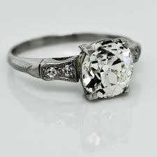 Diamond Cushion Cut Ring Antique Old Cushion Cut Diamond Ring Claude Morady Estate Jewelry