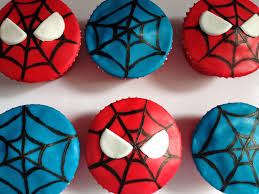 cupcake amazing cupcake spiderman spiderman edible cake image