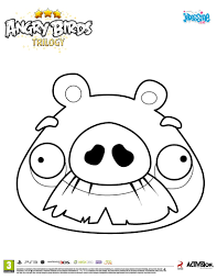super coloriage angry birds du cochon moustachu coloriage