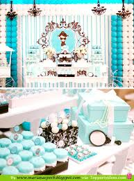 Tiffany Color Party Decorations 66 Best Breakfast At Tiffany U0027s Party Images On Pinterest