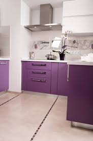 Lacquered Kitchen Cabinets by Ral 4008 Signal Violet Matte Kitchen ι Bright Colors ι κουζινα