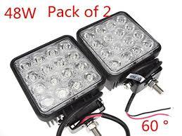led work lights for trucks kaleep 48w 12v 24v 6500k led flood work l off road floodlight 4 4
