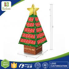 cardboard cutout christmas tree design card pop up cookie shelf