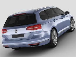 vw minivan 2015 vw passat variant 2015 3d model cgtrader