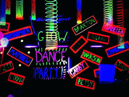 glow in the party supplies glow party supplies decorations black paper with fluorescent paint